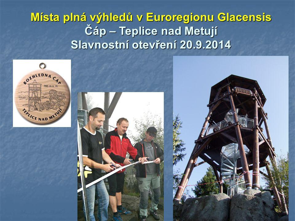 Místa plná výhledů v Euroregionu Glacensis Kudowa Zdrój Slavnostní otevření 2.10.2014