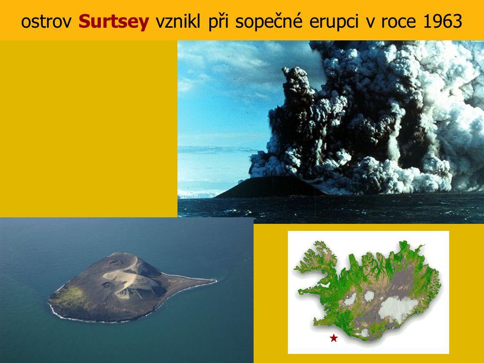 ostrov Surtsey vznikl při sopečné erupci v roce 1963