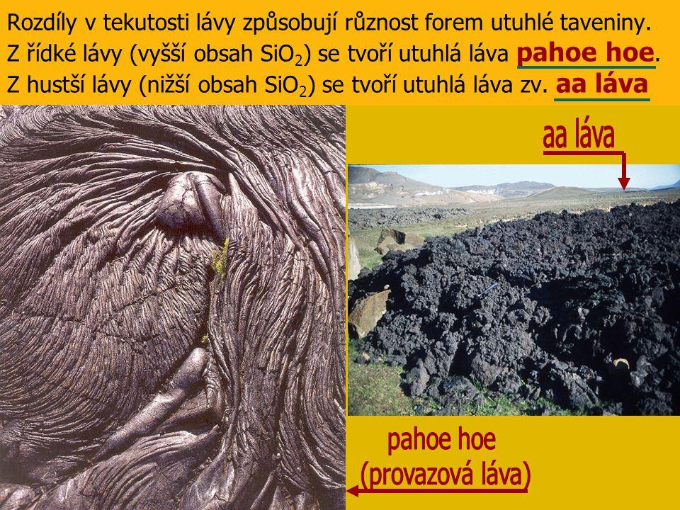 ∆ 95% sopek na Zemi jsou stratovulkány (smíšené sopky) ∆ mají tvar kužele se strmými svahy ∆ jsou tvořené střídajícími se vrstvami lávy a sopečného popela ∆ vznikají rychlým tuhnutím hustého magmatu (vyšší obsah SiO 2 ) ∆ explozívní (vybuchující) sopky erupce nejsou časté,ale silné (husté magma tuhne v jícnu sopky, vytváří zátku,která je rostoucím tlakem magmatu vyražena a dochází k výbuchu)