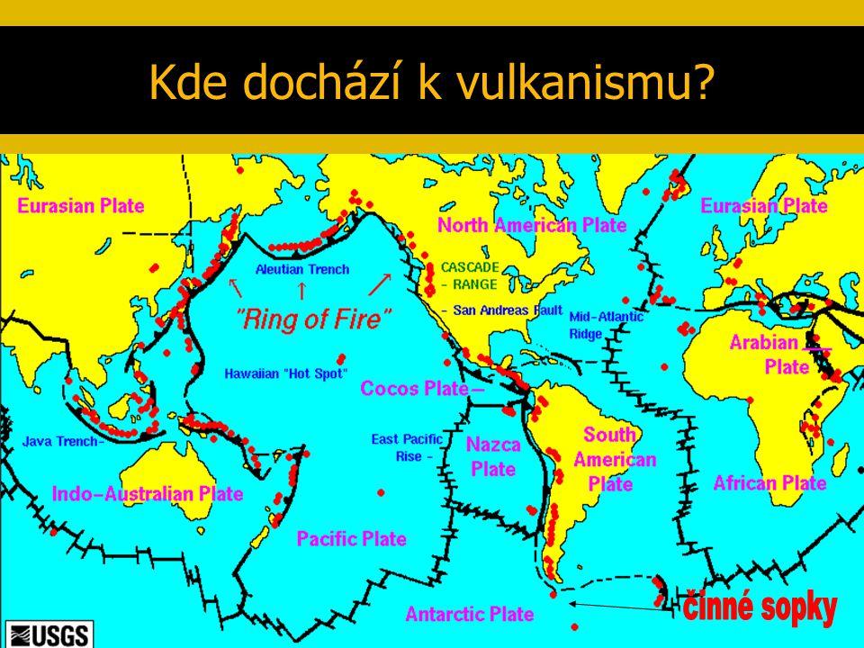 Kde dochází k vulkanismu?