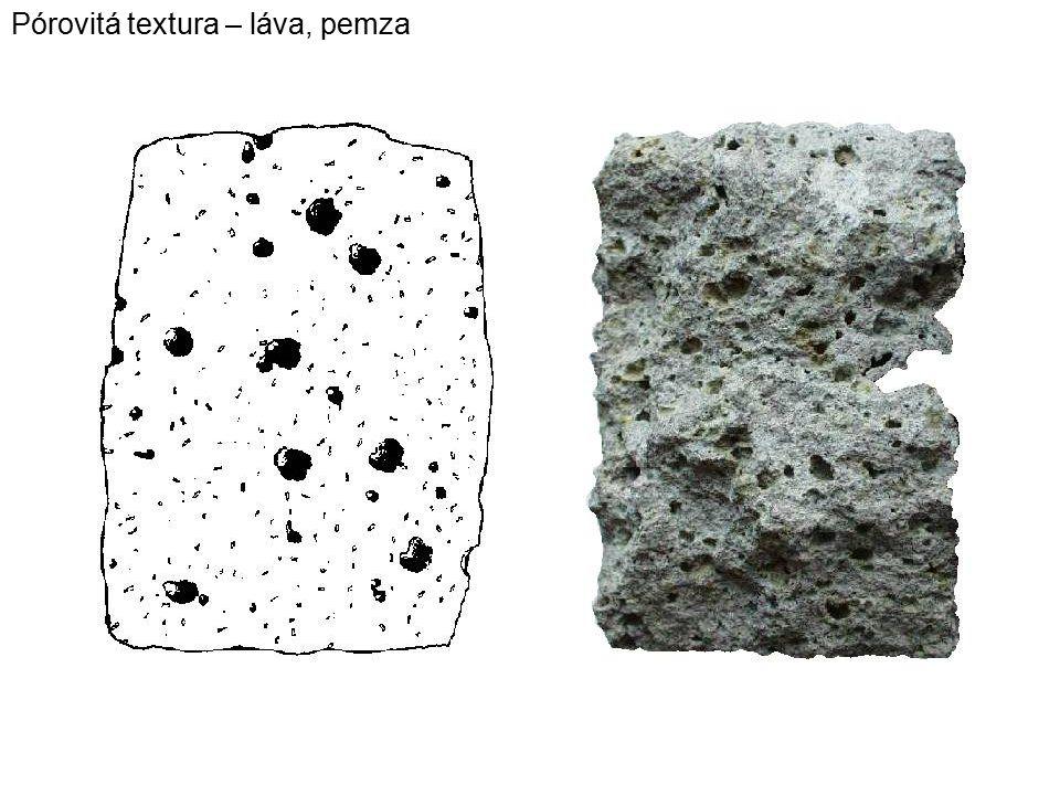 Pórovitá textura – láva, pemza
