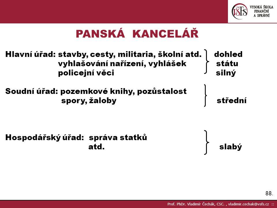 89. Prof. PhDr. Vladimír Čechák, CSC., vladimir.cechak@vsfs.cz ::