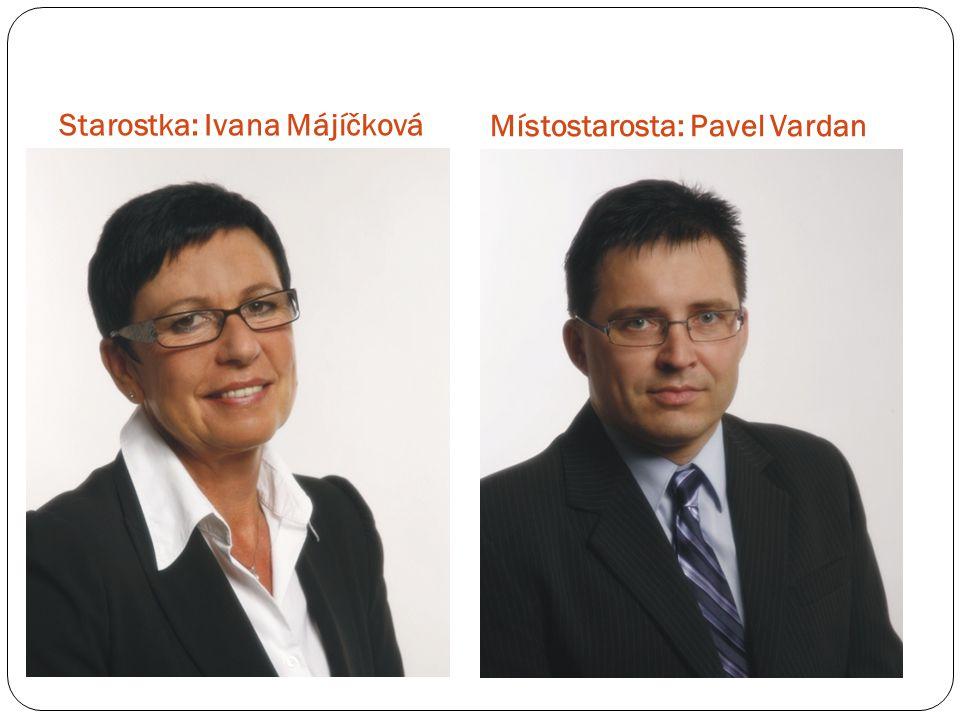 Starostka: Ivana Májíčková Místostarosta: Pavel Vardan