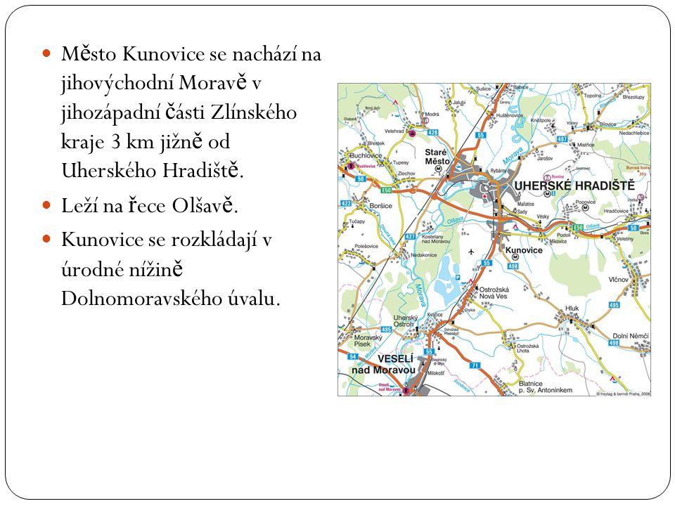 M ě sto Kunovice se nachází na jihovýchodní Morav ě v jihozápadní č ásti Zlínského kraje 3 km jižn ě od Uherského Hradišt ě.
