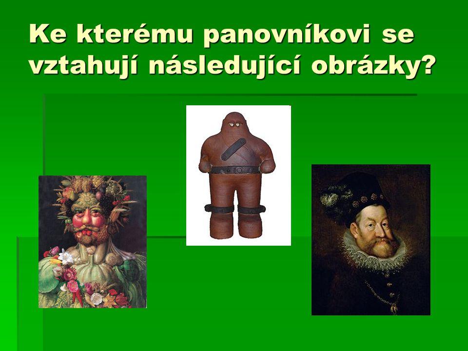 Ke kterému panovníkovi se vztahují následující obrázky