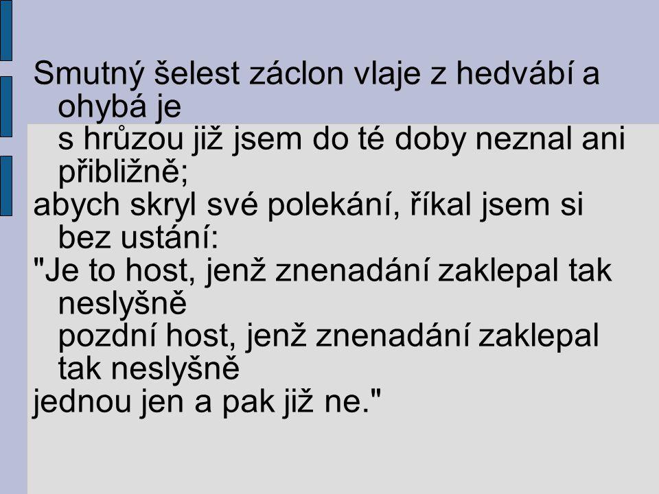 Je mi velice líto, že mě dopis nezastihl.Vrátím se v deset hodin, nedbalým písmem psal Vronskij.