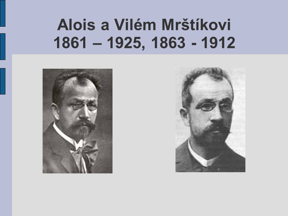 Alois a Vilém Mrštíkovi 1861 – 1925, 1863 - 1912