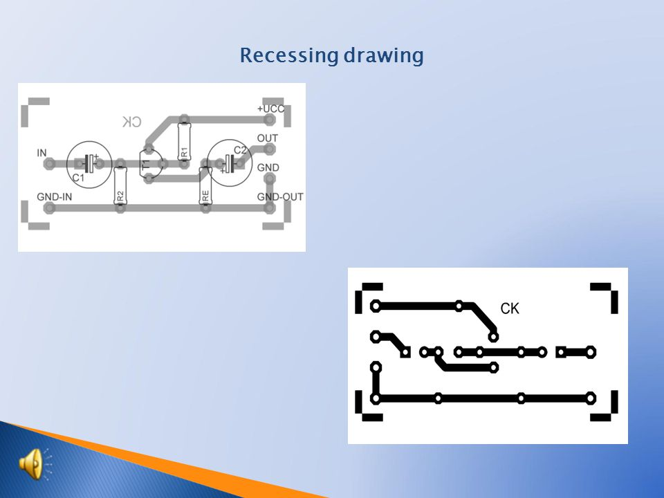 Recessing drawing