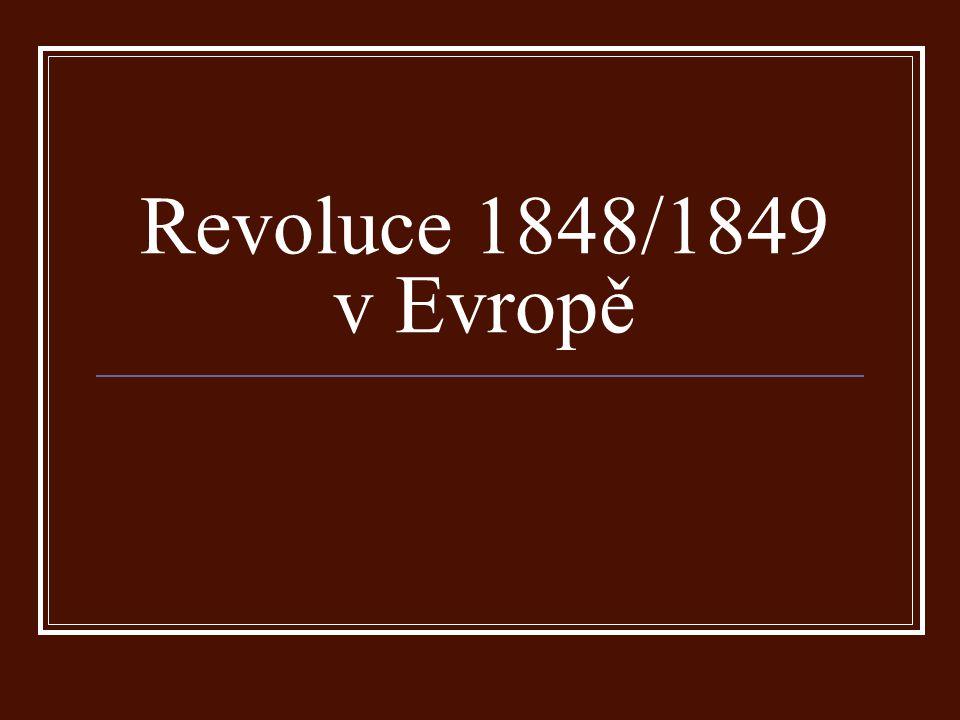 Francie bankety – nutnost volební reformy únorová revoluce v Paříži – barikády, ozbrojené střetnutí republika, prozatimní revoluční vláda
