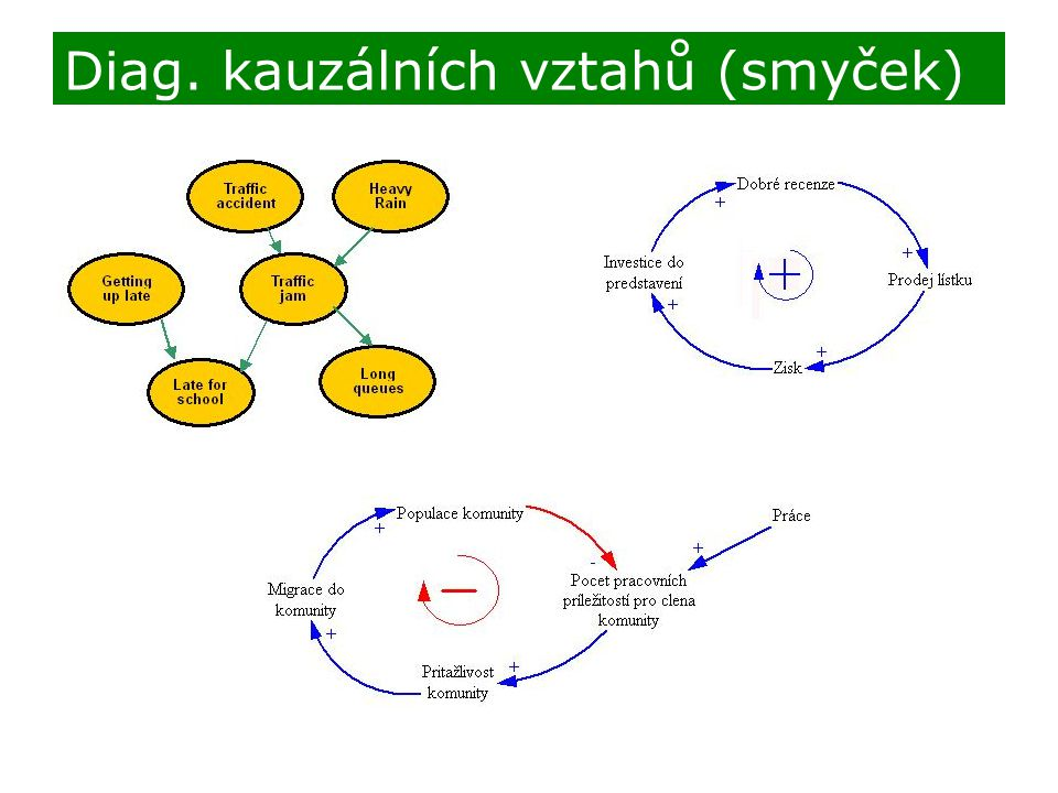 Diag. kauzálních vztahů (smyček)