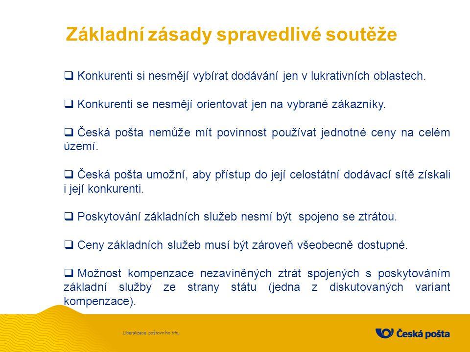 Česká pošta považuje to, že napříště bude muset o své zákazníky bojovat s konkurencí v mnohem větší míře než dosud, za výzvu.