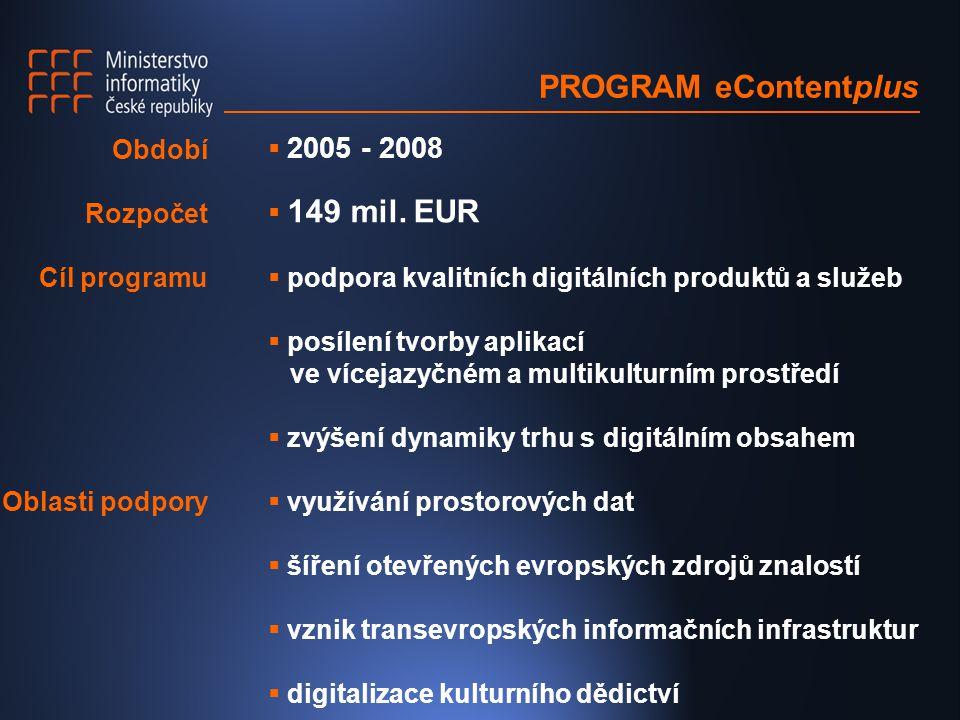 PROGRAM eContentplus  2005 - 2008  149 mil.