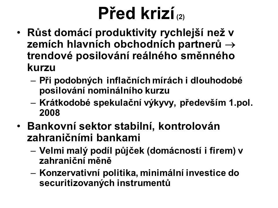 Před krizí (3) Vychýlená struktura průmyslu –Důsledek investičních pobídek.