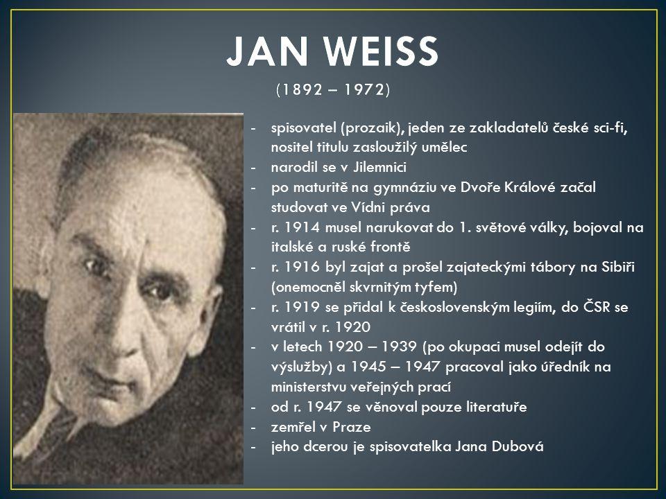-spisovatel (prozaik), jeden ze zakladatelů české sci-fi, nositel titulu zasloužilý umělec -narodil se v Jilemnici -po maturitě na gymnáziu ve Dvoře K