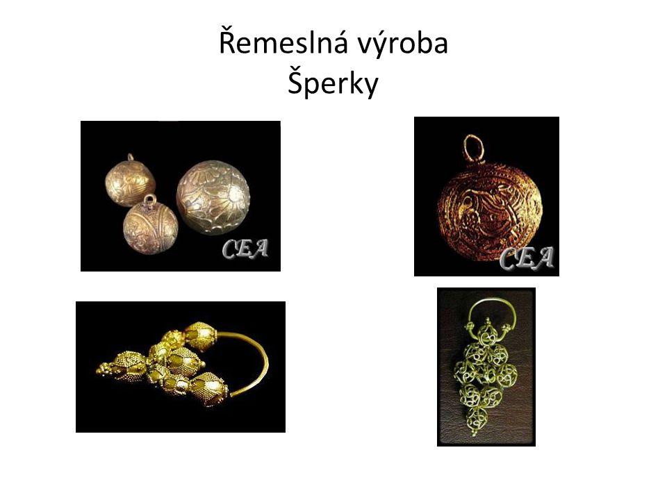 Řemeslná výroba Šperky