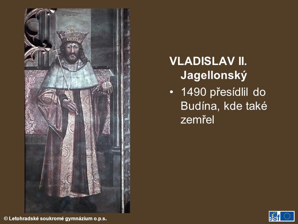 © Letohradské soukromé gymnázium o.p.s.VLADISLAV II.