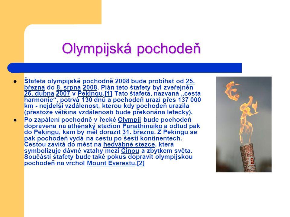 Maskot olympijských her v Pekingu
