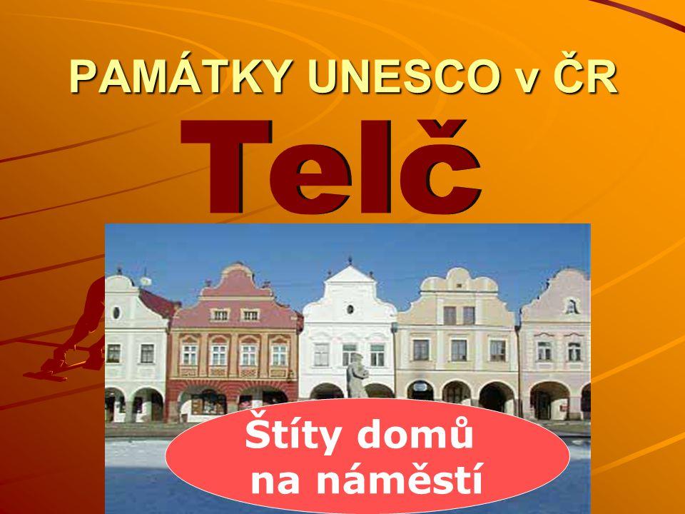 PAMÁTKY UNESCO v ČR Štíty domů na náměstí