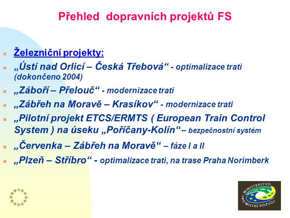 7 Průběh a současný stav v přijímání pomoci z ISPA n Pro ČR byly první projekty schváleny v r.