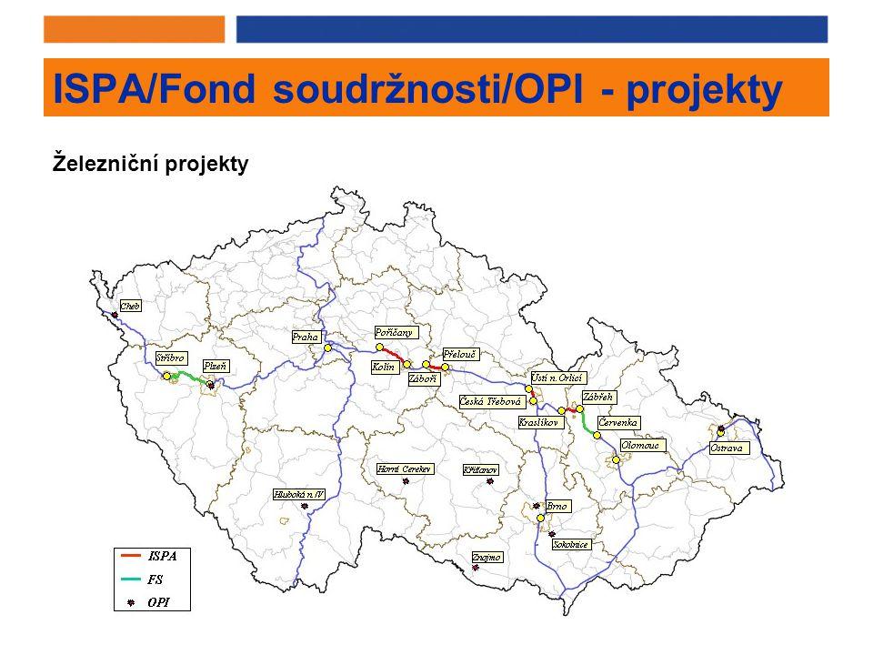 ISPA/Fond soudržnosti/OPI - projekty Železniční projekty