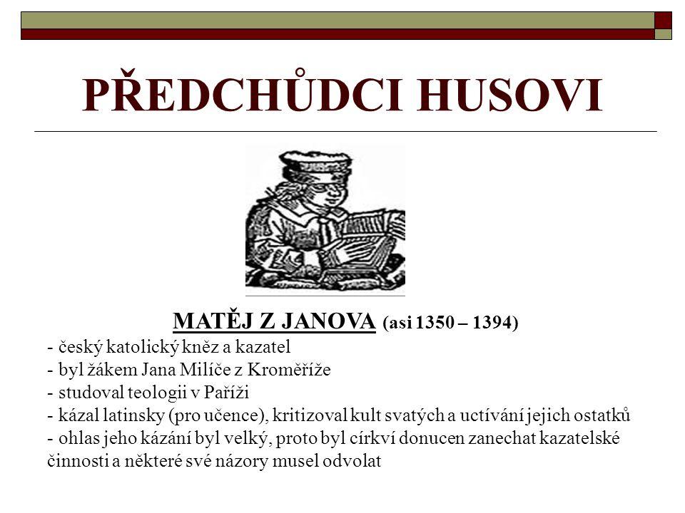 TOMÁŠ ŠTÍTNÝ ZE ŠTÍTNÉHO (asi 1333 – mezi 1401 a 1409) - český šlechtic (jihočeský zeman), spisovatel (první klasik české naučné prózy), církevní reformátor, překladatel a kazatel - narodil se ve Štítném u Žirovnice v nezámožné vladycké rodině - studoval na Vysokém učení pražském, ale studia nedokončil a vrátil ke svému hospodářství - r.