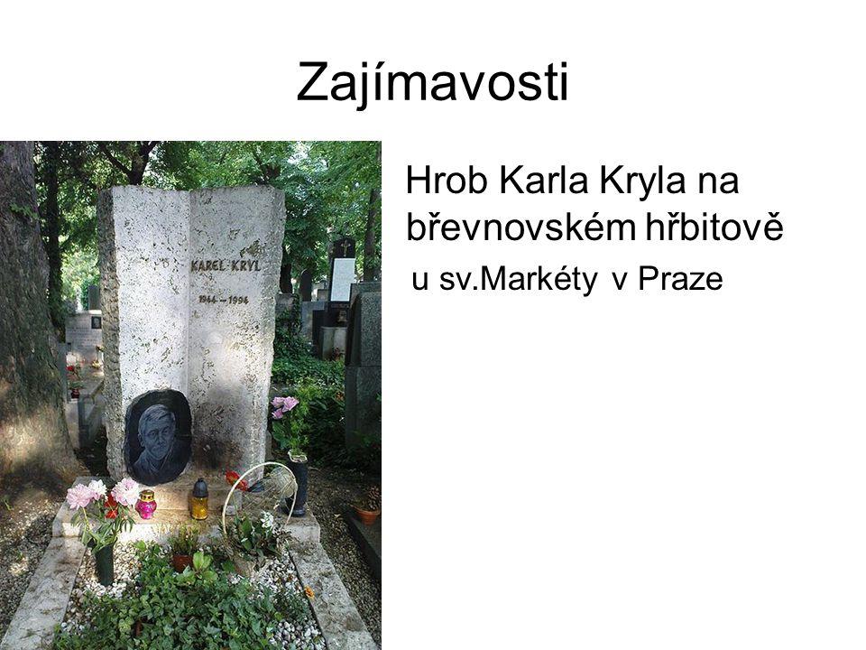 Zajímavosti Hrob Karla Kryla na břevnovském hřbitově – u sv.Markéty v Praze
