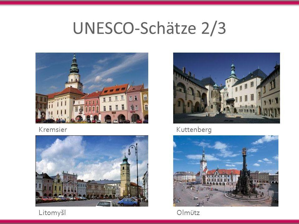 UNESCO-Schätze 2/3 KremsierKuttenberg LitomyšlOlmütz