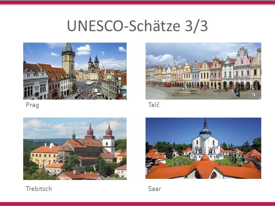 UNESCO-Schätze 3/3 Prag Trebitsch Saar Telč