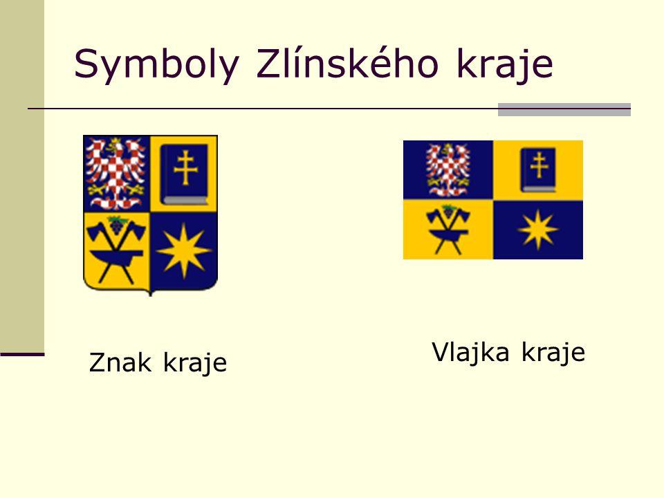 Symboly Zlínského kraje Znak kraje Vlajka kraje