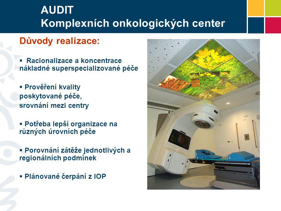 AUDIT Komplexních onkologických center Co se auditovalo.
