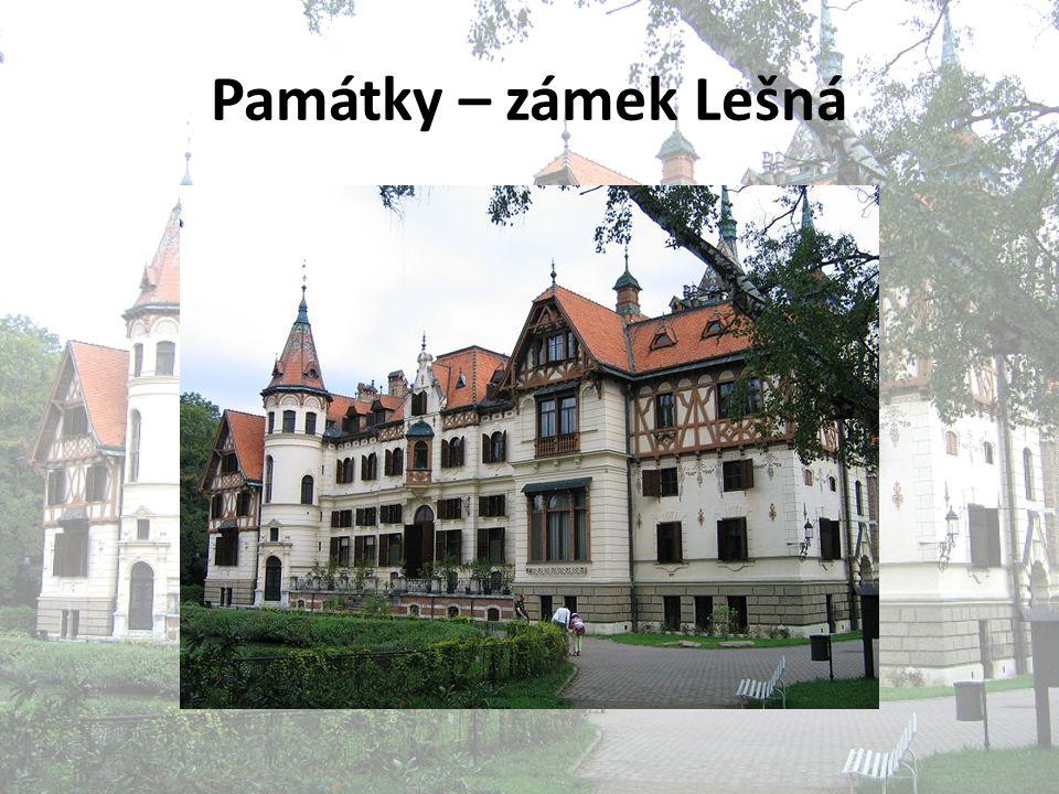 Památky – zámek Lešná