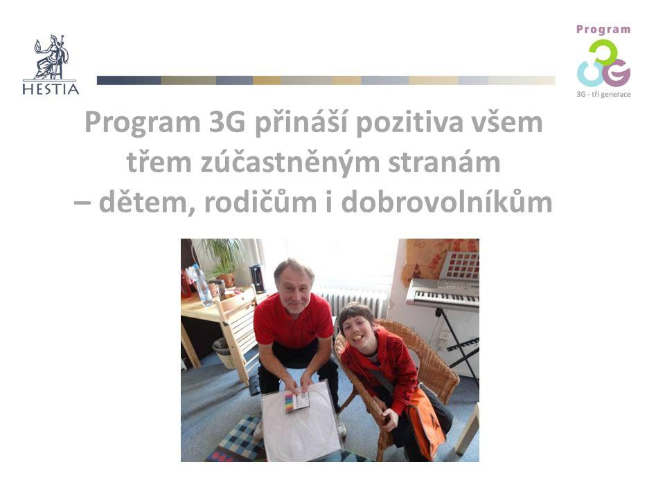 Program 3G přináší pozitiva všem třem zúčastněným stranám – dětem, rodičům i dobrovolníkům