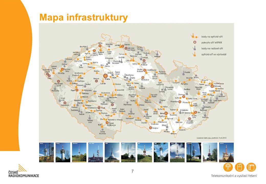 7 Mapa infrastruktury