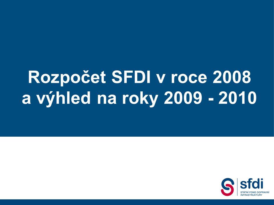 Státní fond dopravní infrastruktury 2. Dopravní fórum, 18.09. 2007 Gustáv Slamečka ředitel SFDI Rozpočet SFDI v roce 2008 a výhled na roky 2009 - 2010