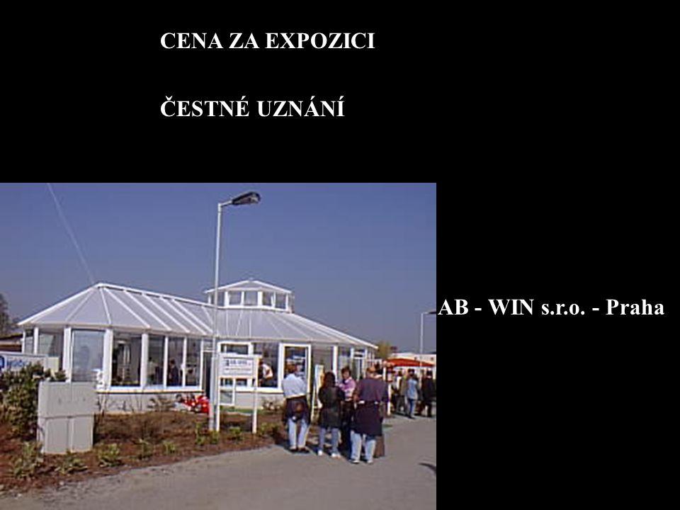 CENA ZA EXPOZICI ČESTNÉ UZNÁNÍ AB - WIN s.r.o. - Praha