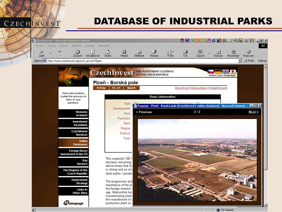 DATABASE OF INDUSTRIAL PARKS