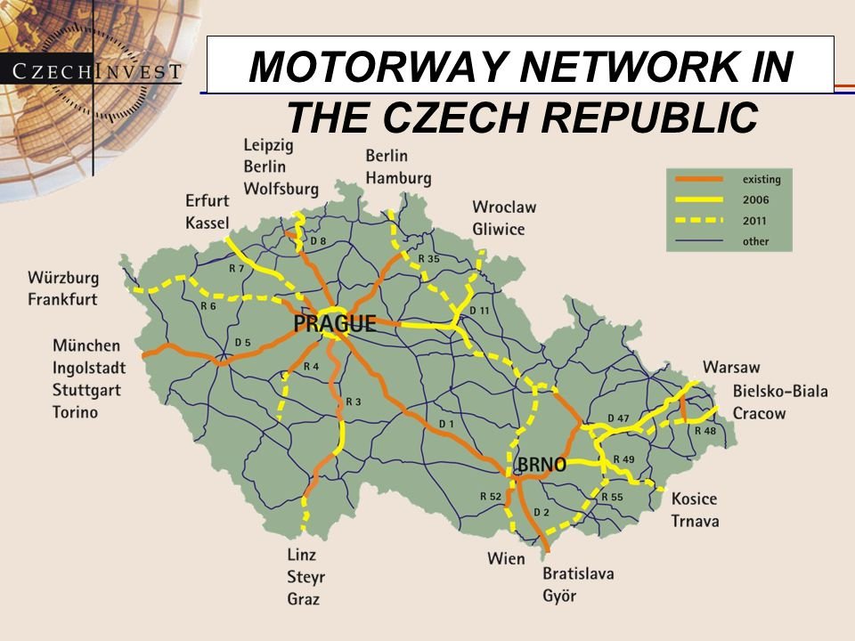 MOTORWAY NETWORK IN THE CZECH REPUBLIC