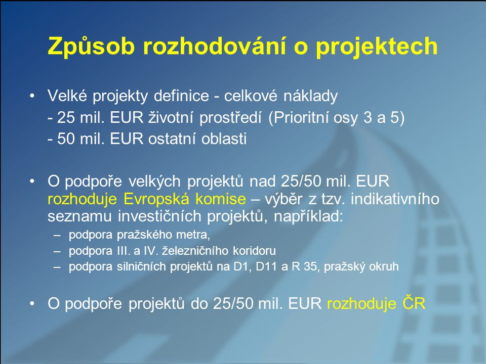 Aktuální stav v číslech (k datu 31.8.2009) Aktuálně vyhlášeno 7 kontinuálních výzev (2 kolové byly již ukončeny) Podáno celkem 136 projektových žádostí v objemu 166,4 mld.