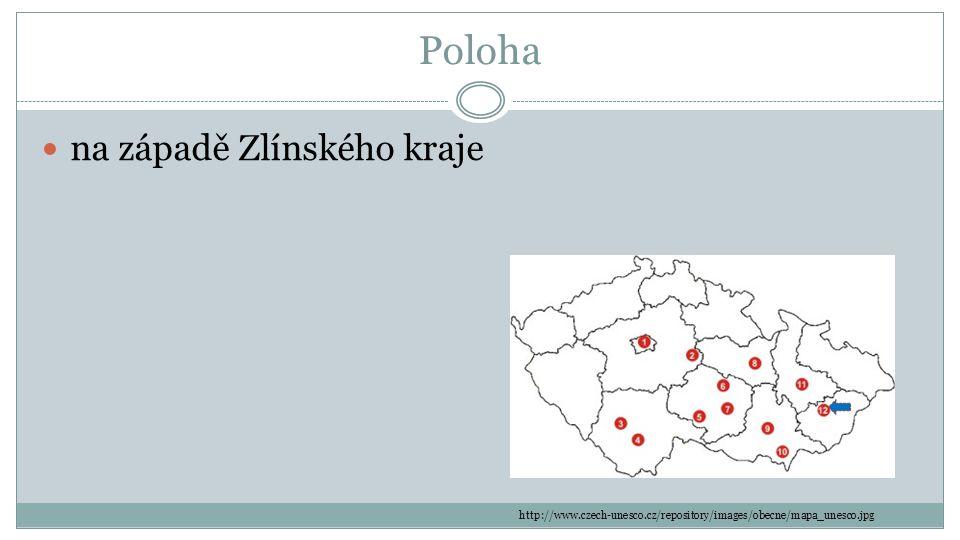 Poloha na západě Zlínského kraje http://www.czech-unesco.cz/repository/images/obecne/mapa_unesco.jpg