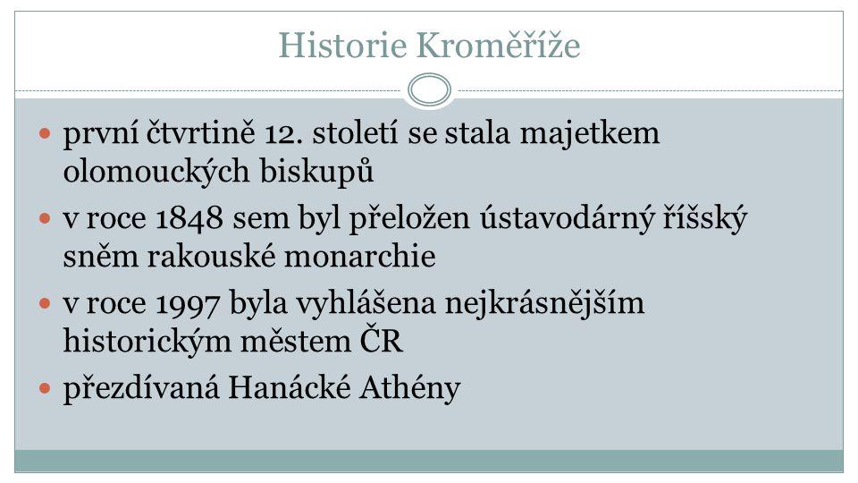 Historie Kroměříže první čtvrtině 12.