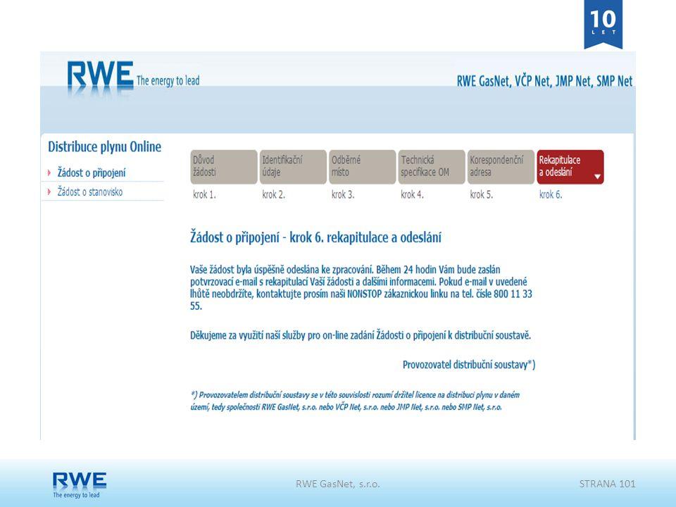 RWE GasNet, s.r.o.STRANA 101