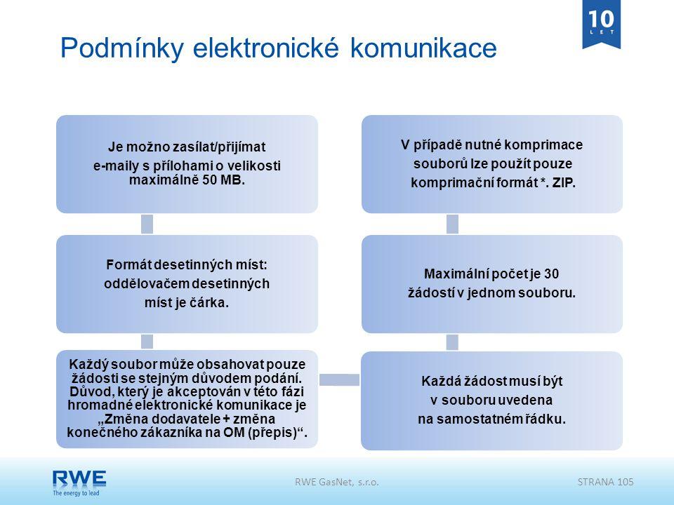 Podmínky elektronické komunikace Je možno zasílat/přijímat e-maily s přílohami o velikosti maximálně 50 MB. Formát desetinných míst: oddělovačem deset