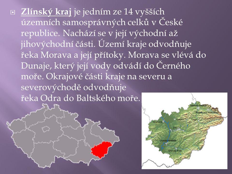  Zlínský kraj je jedním ze 14 vyšších územních samosprávných celků v České republice. Nachází se v její východní až jihovýchodní části. Území kraje o