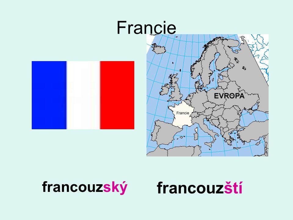 Francie francouzský francouzští