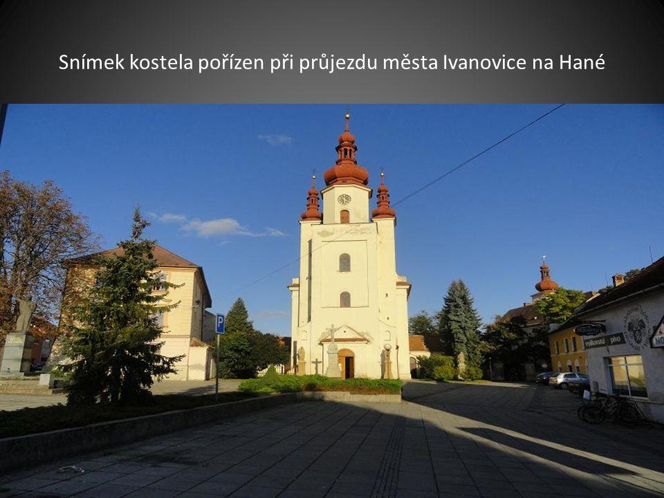Snímek kostela Zvěstování sv. P. Marie pořízeno při průjezdu Brna-Tuřany
