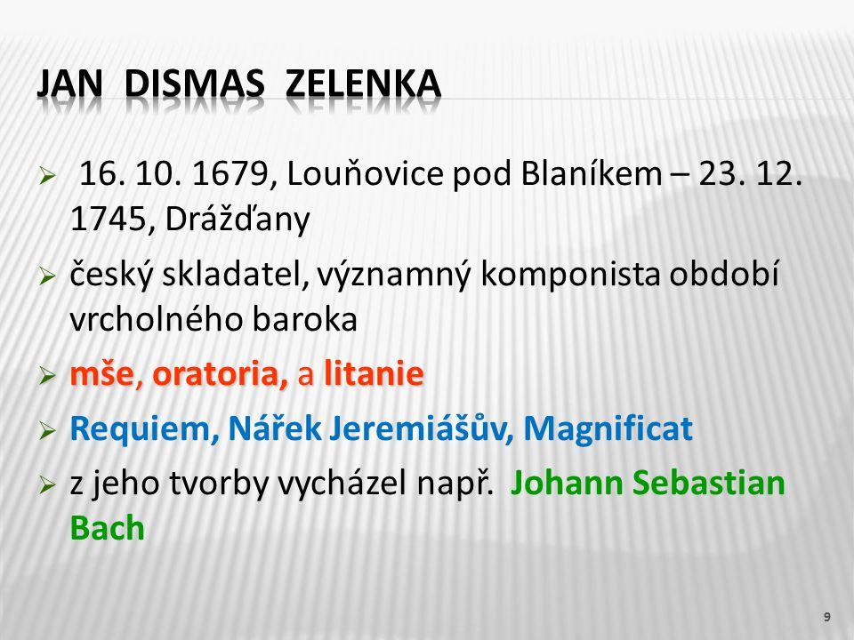  16. 10. 1679, Louňovice pod Blaníkem – 23. 12.