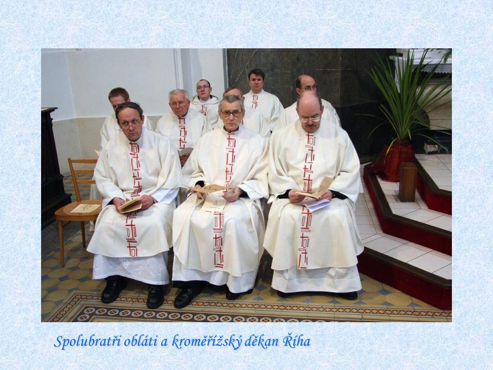 O.Chicho, generální radní, o. arcibiskup a o. Martin