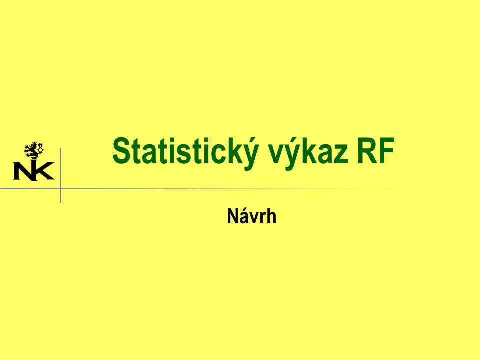 Statistický výkaz RF Návrh