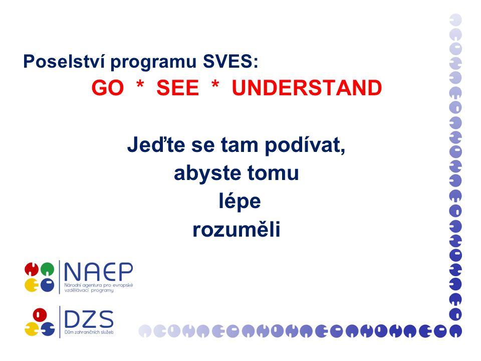 Poselství programu SVES: GO * SEE * UNDERSTAND Jeďte se tam podívat, abyste tomu lépe rozuměli