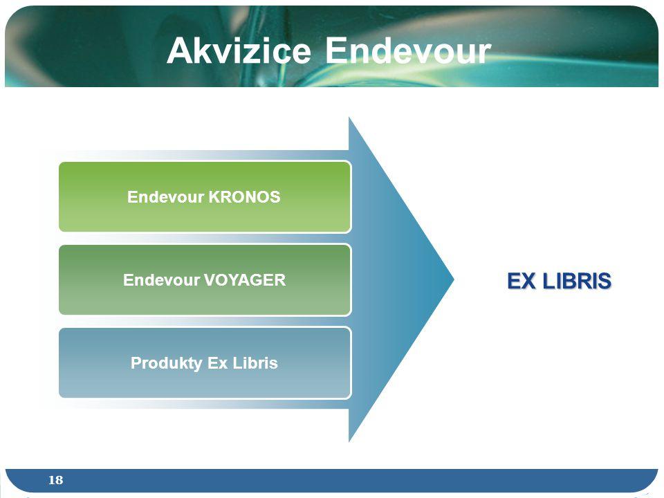 18 Akvizice Endevour Endevour KRONOS Endevour VOYAGER Produkty Ex Libris EX LIBRIS